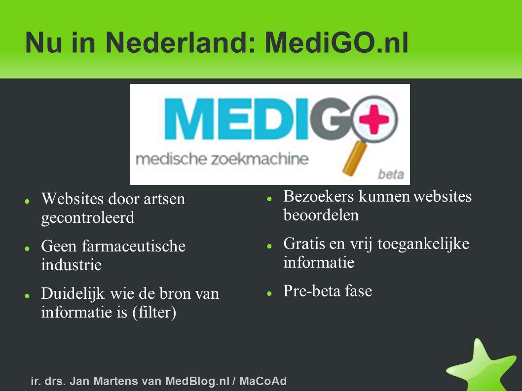 Nu in Nederland: MediGO.nl