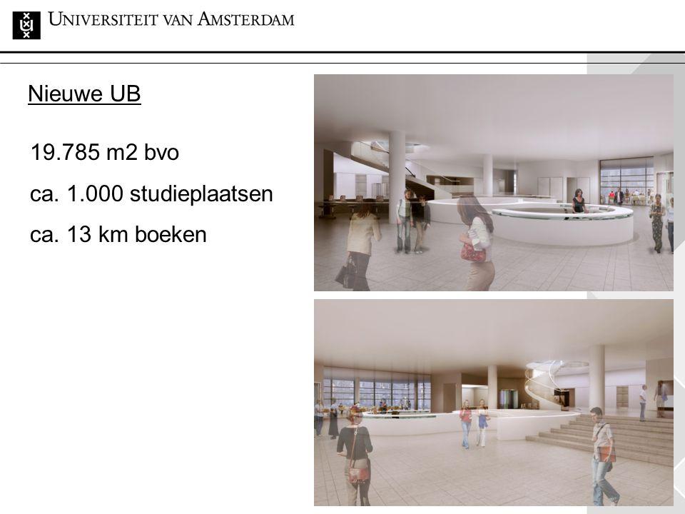 Nieuwe UB 19.785 m2 bvo ca. 1.000 studieplaatsen ca. 13 km boeken