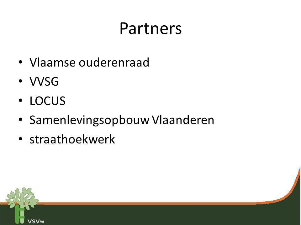 Partners Vlaamse ouderenraad VVSG LOCUS Samenlevingsopbouw Vlaanderen
