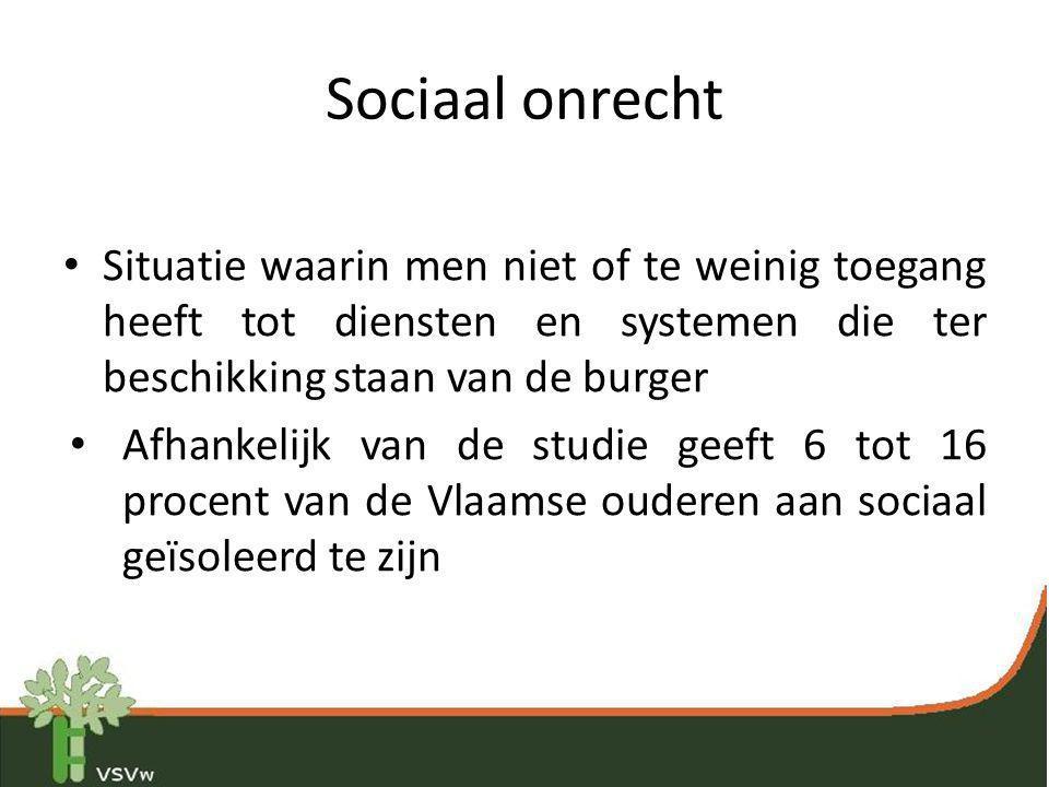 Sociaal onrecht Situatie waarin men niet of te weinig toegang heeft tot diensten en systemen die ter beschikking staan van de burger.