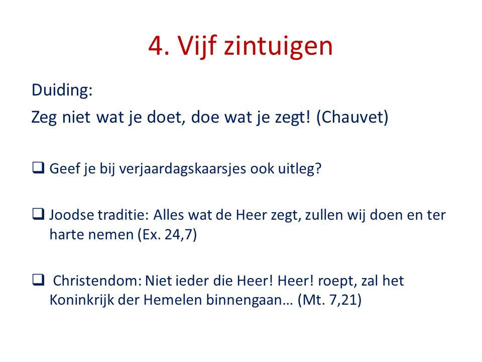 4. Vijf zintuigen Duiding: