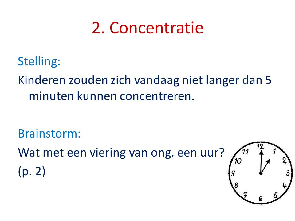 2. Concentratie Stelling: