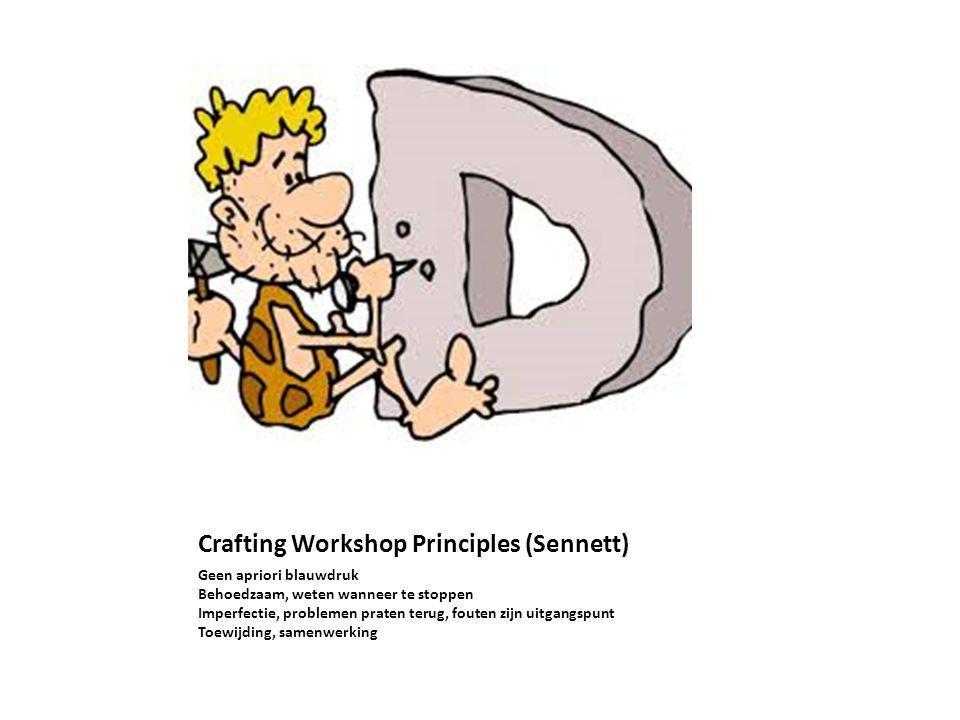 Crafting Workshop Principles (Sennett)