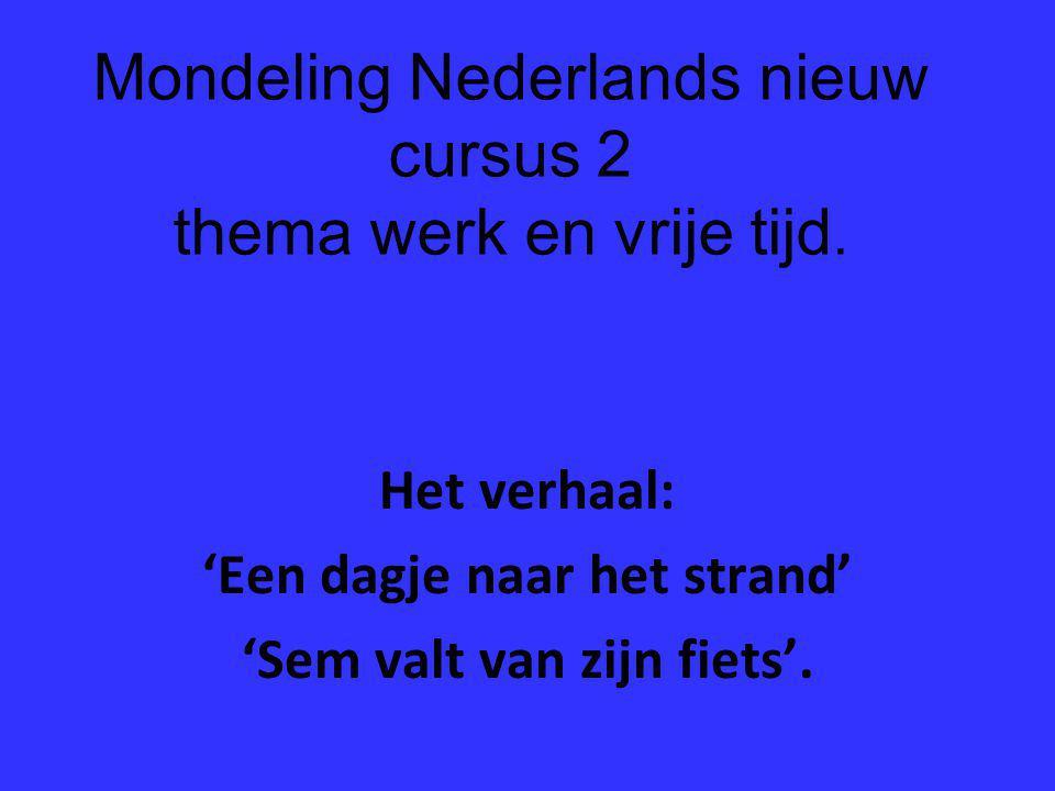 Mondeling Nederlands nieuw cursus 2 thema werk en vrije tijd.