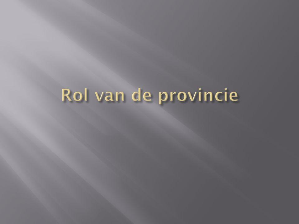 Rol van de provincie