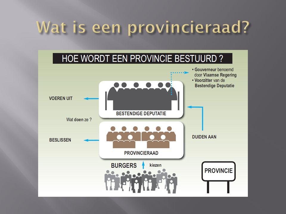 Wat is een provincieraad