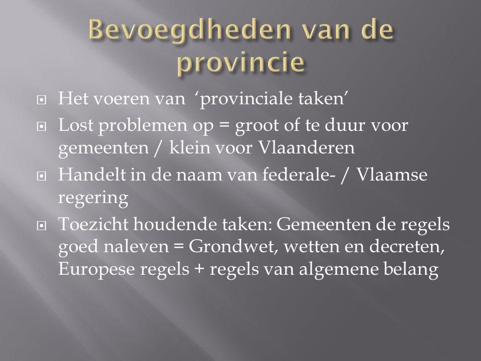 Bevoegdheden van de provincie