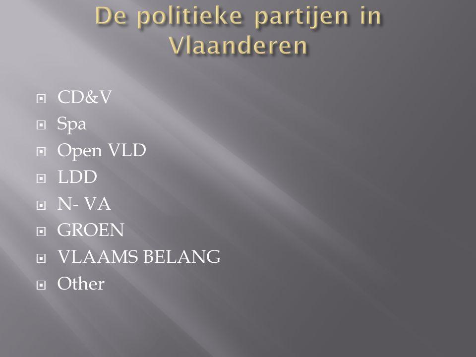 De politieke partijen in Vlaanderen