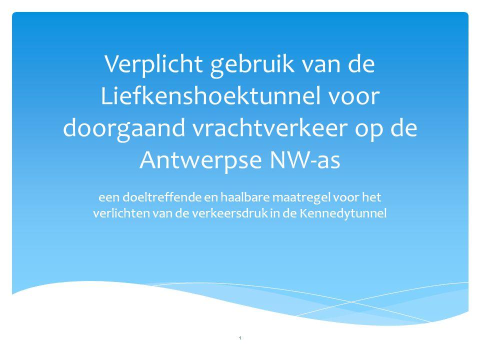 Verplicht gebruik van de Liefkenshoektunnel voor doorgaand vrachtverkeer op de Antwerpse NW-as