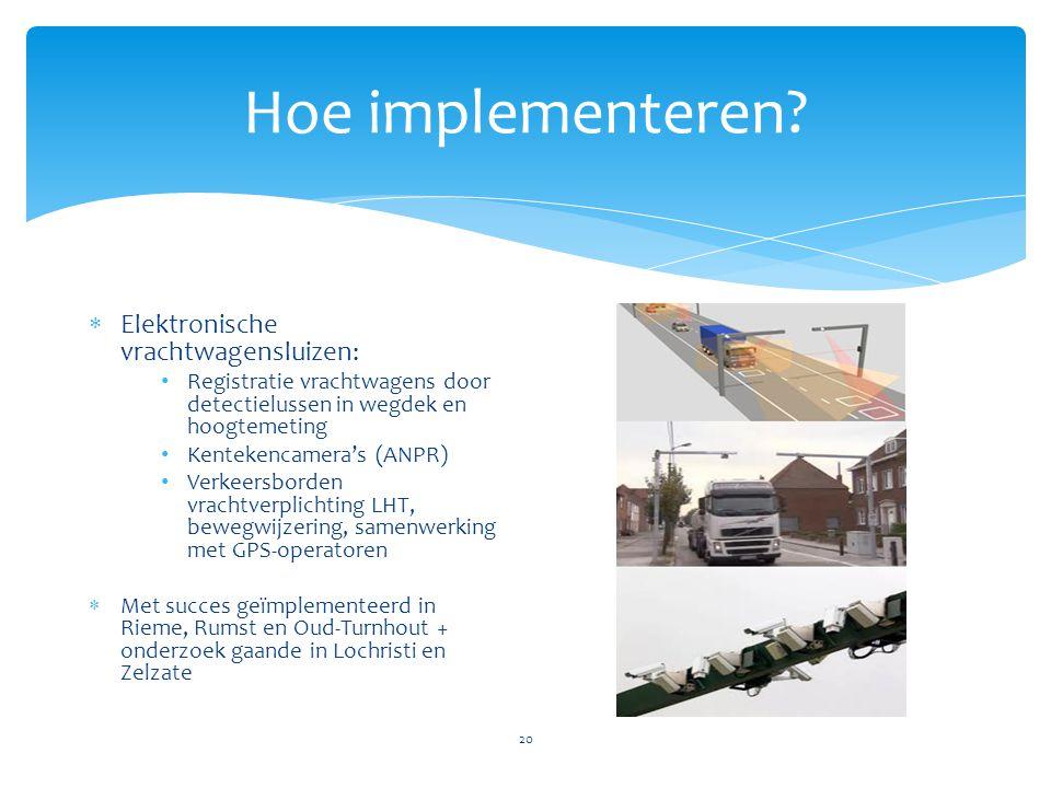 Hoe implementeren Elektronische vrachtwagensluizen: