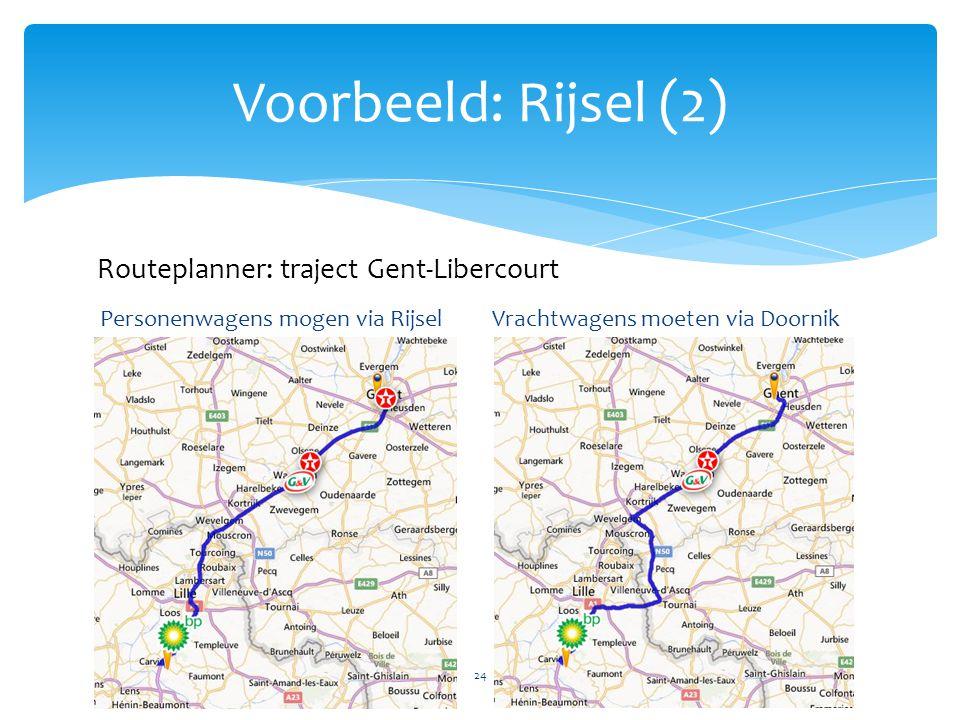 Voorbeeld: Rijsel (2) Routeplanner: traject Gent-Libercourt
