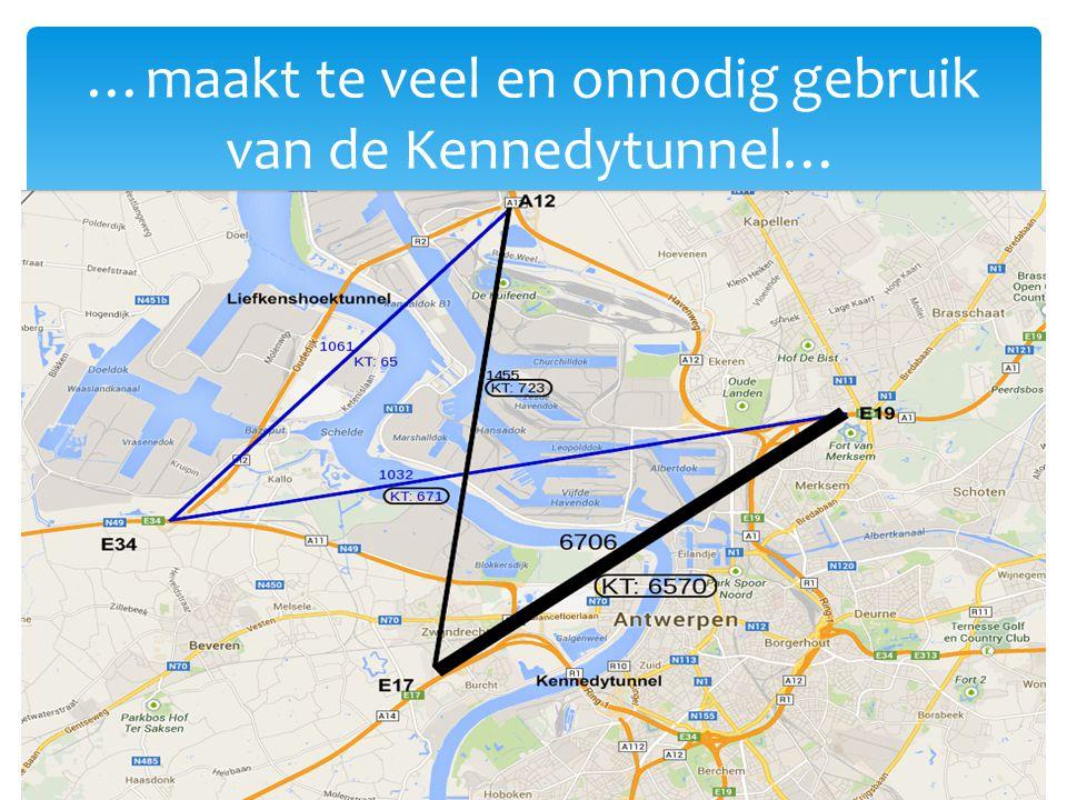 …maakt te veel en onnodig gebruik van de Kennedytunnel…