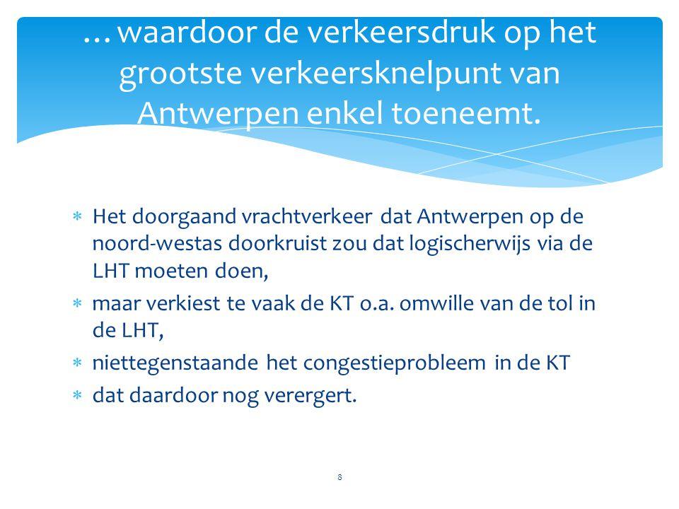 …waardoor de verkeersdruk op het grootste verkeersknelpunt van Antwerpen enkel toeneemt.