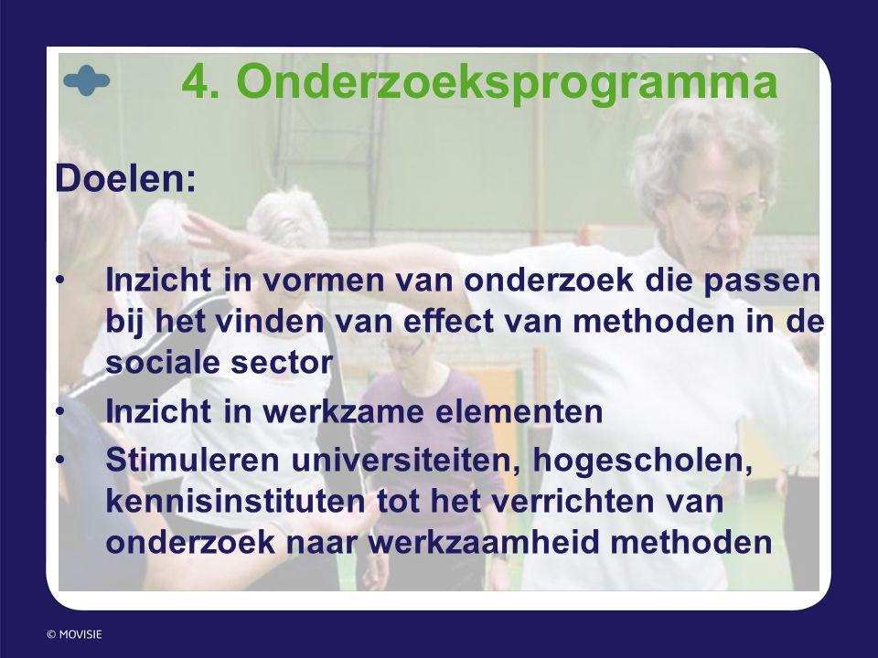 4. Onderzoeksprogramma Doelen: