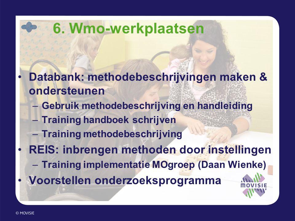 6. Wmo-werkplaatsen Databank: methodebeschrijvingen maken & ondersteunen. Gebruik methodebeschrijving en handleiding.
