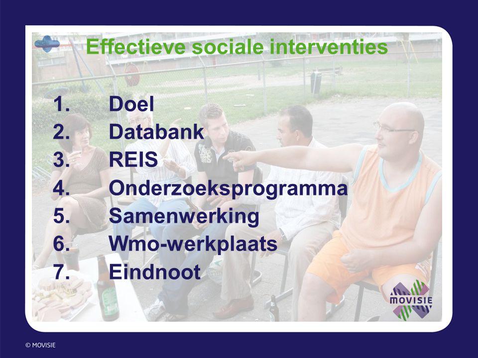 Effectieve sociale interventies