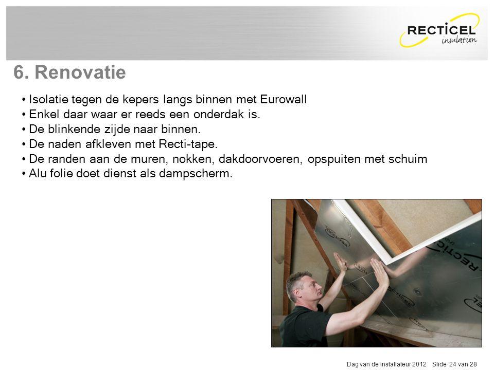 6. Renovatie Isolatie tegen de kepers langs binnen met Eurowall