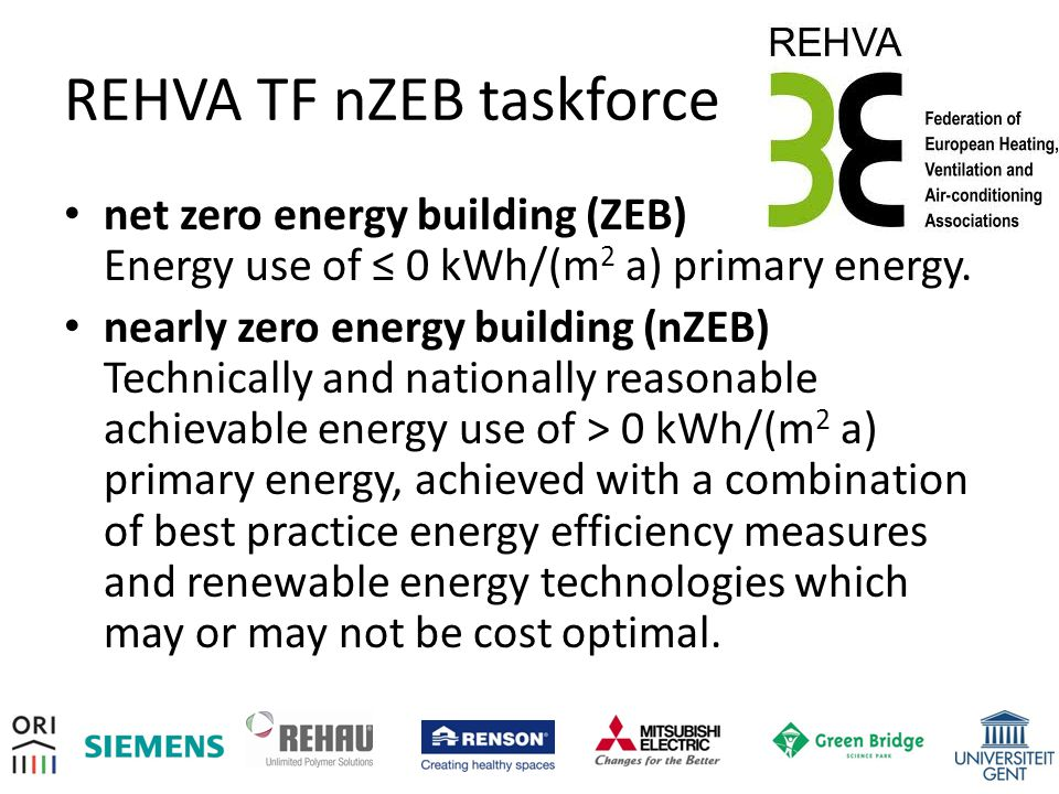 REHVA TF nZEB taskforce