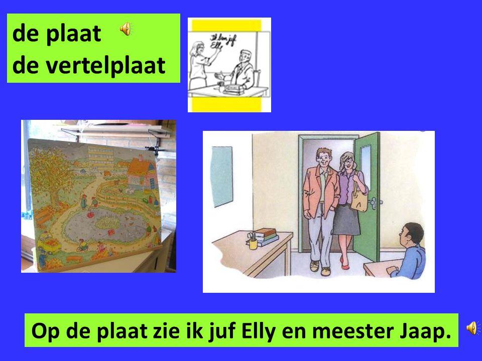 Op de plaat zie ik juf Elly en meester Jaap.