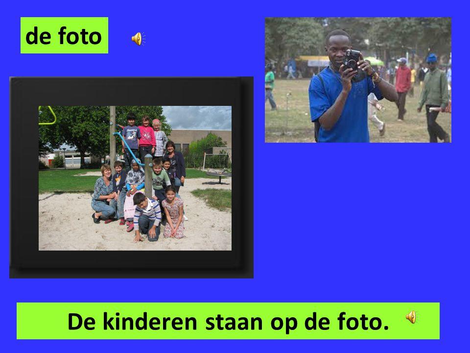 De kinderen staan op de foto.