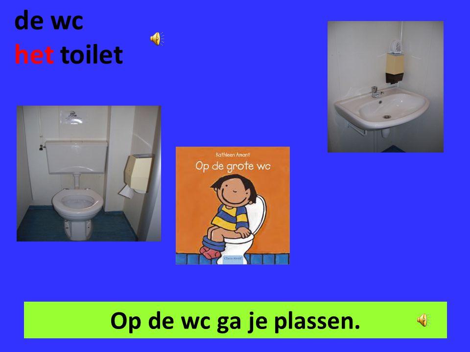 de wc het toilet Op de wc ga je plassen.