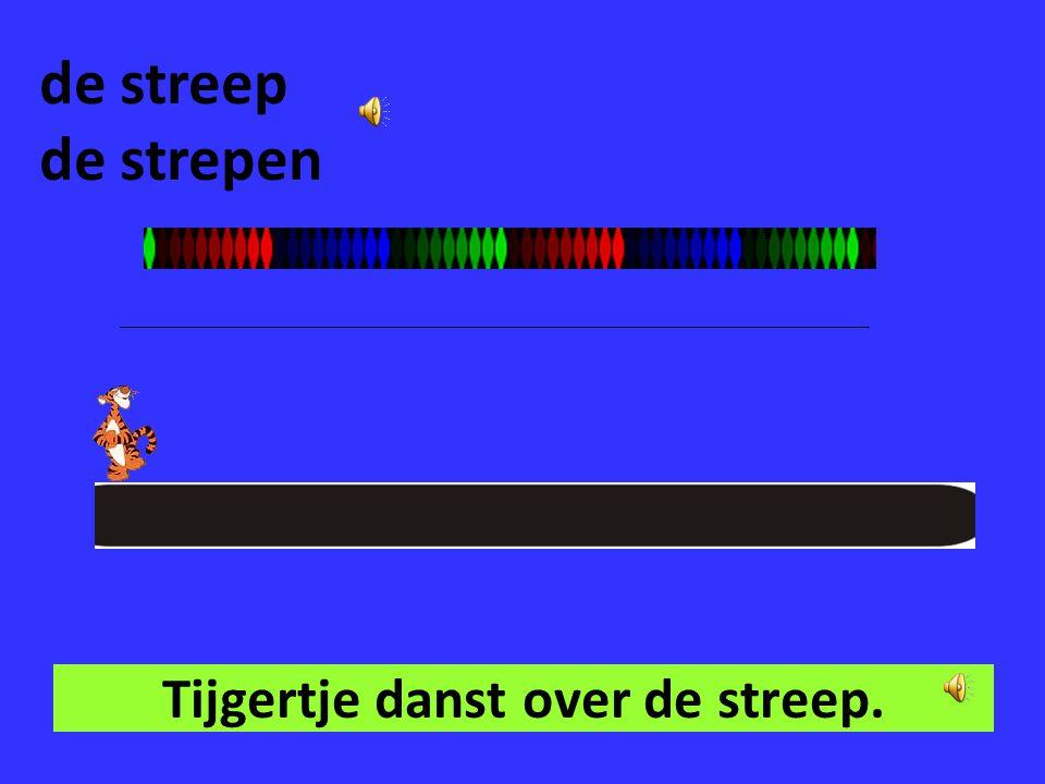 Tijgertje danst over de streep.