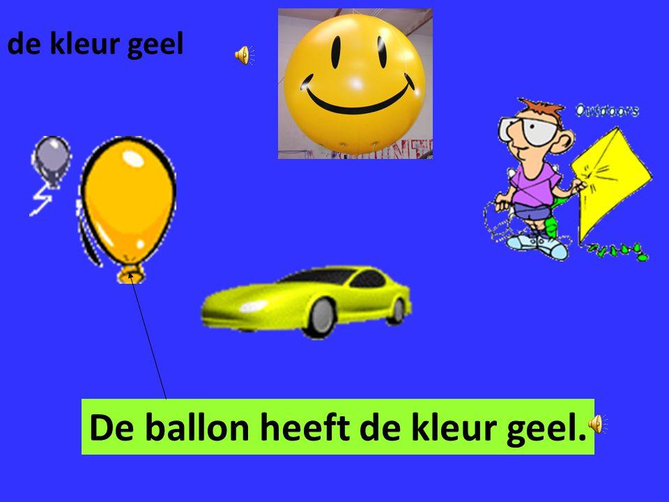 De ballon heeft de kleur geel.