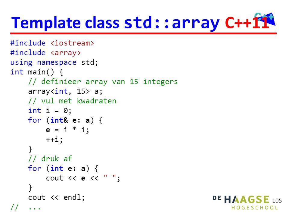 Template class std::vector
