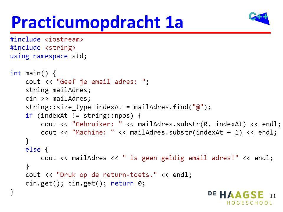 Objectgeoriënteerd Programmeren in C++