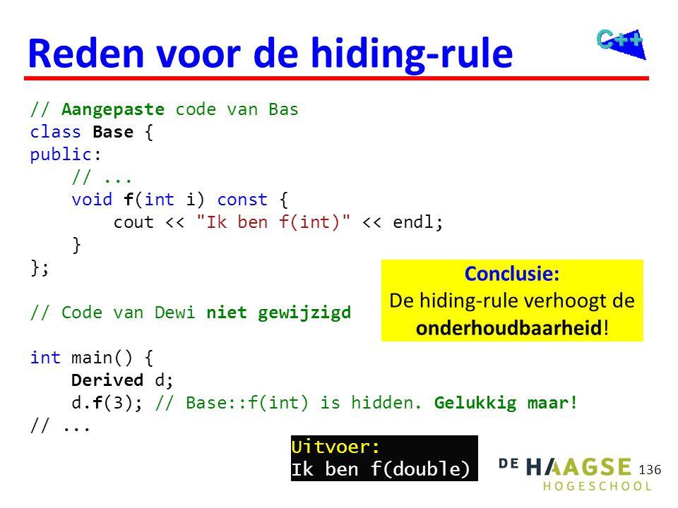 Explicit overriding C++11
