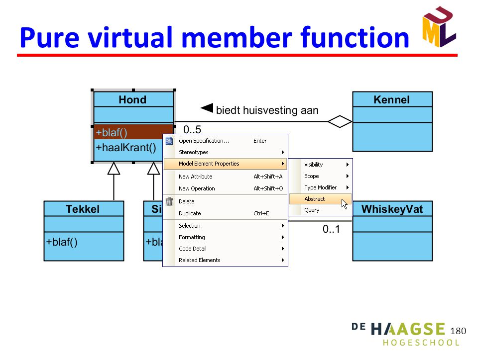 Pure virtual member function