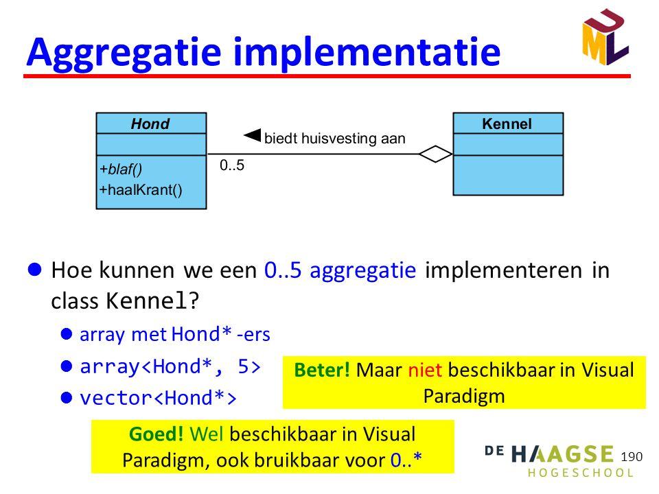 Aggregatie implementatie
