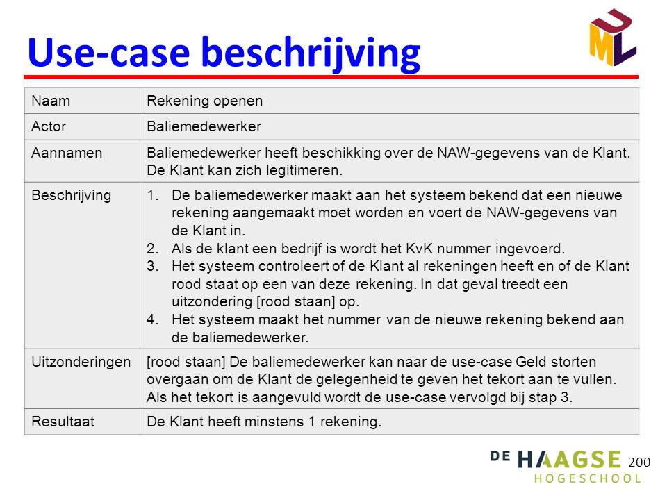Use-case beschrijving
