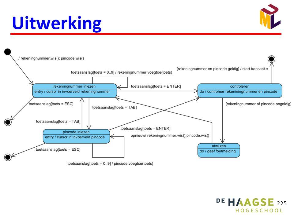 Een Activiteitsdiagram laat een stroom van activiteiten zien.