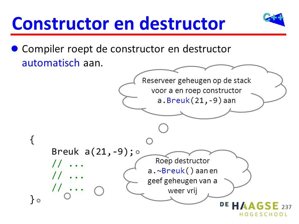 Constructor en destructor