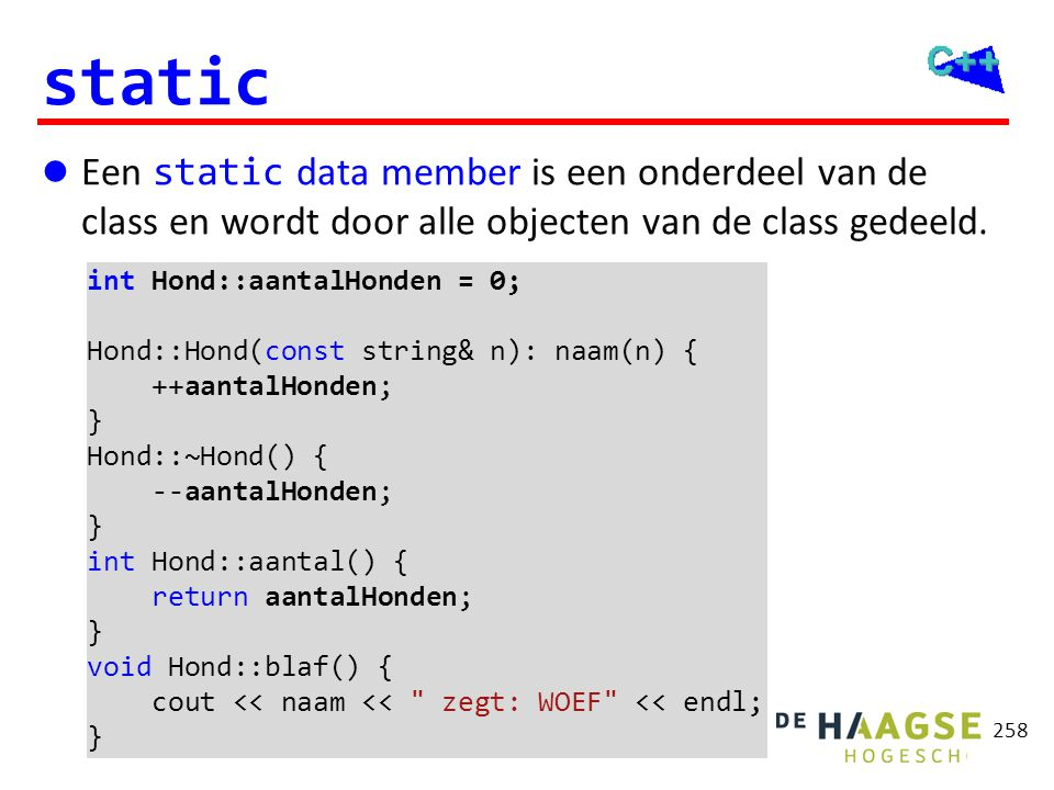 static memberfuncties