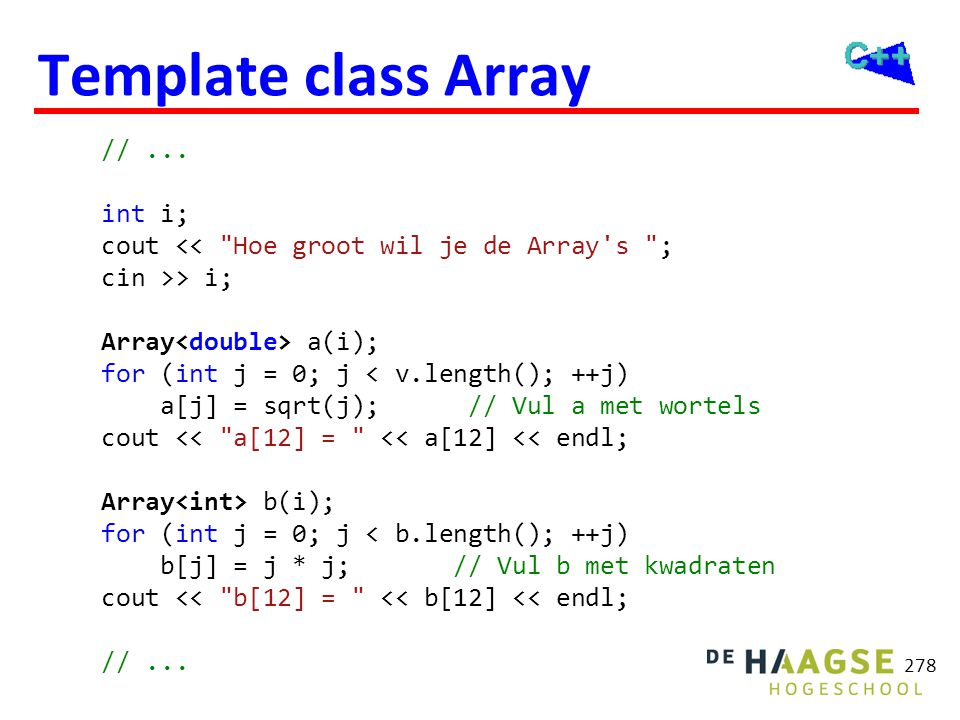 ADT Array versus std::Array
