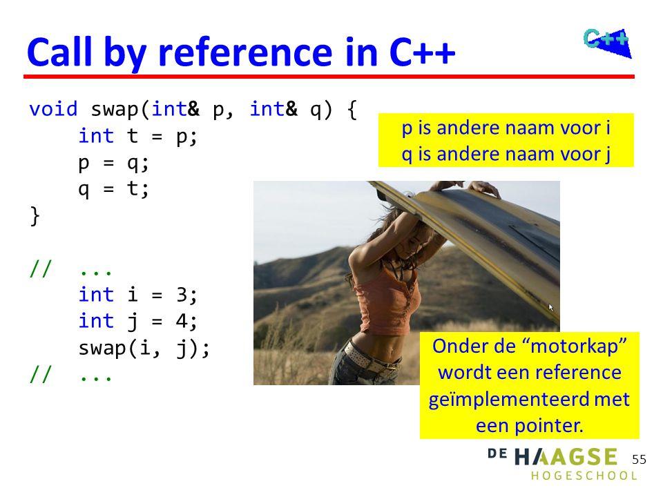 OGOPRG 3 april 2017. Reference return. Je kunt een reference ook teruggeven vanuit een functie. int& max(int& a, int& b) {