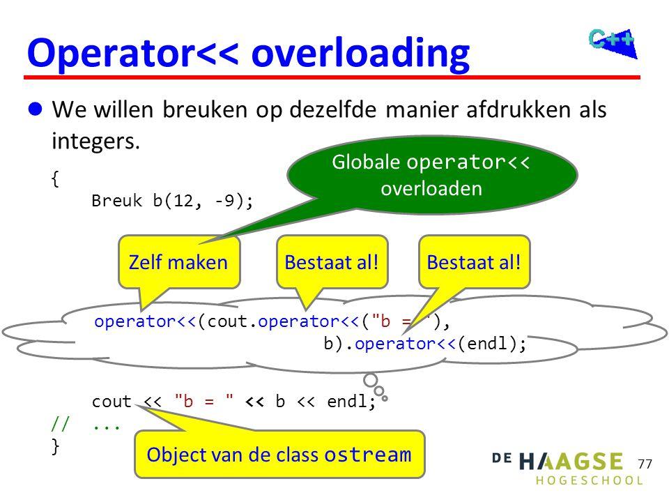 Operator<< overloading