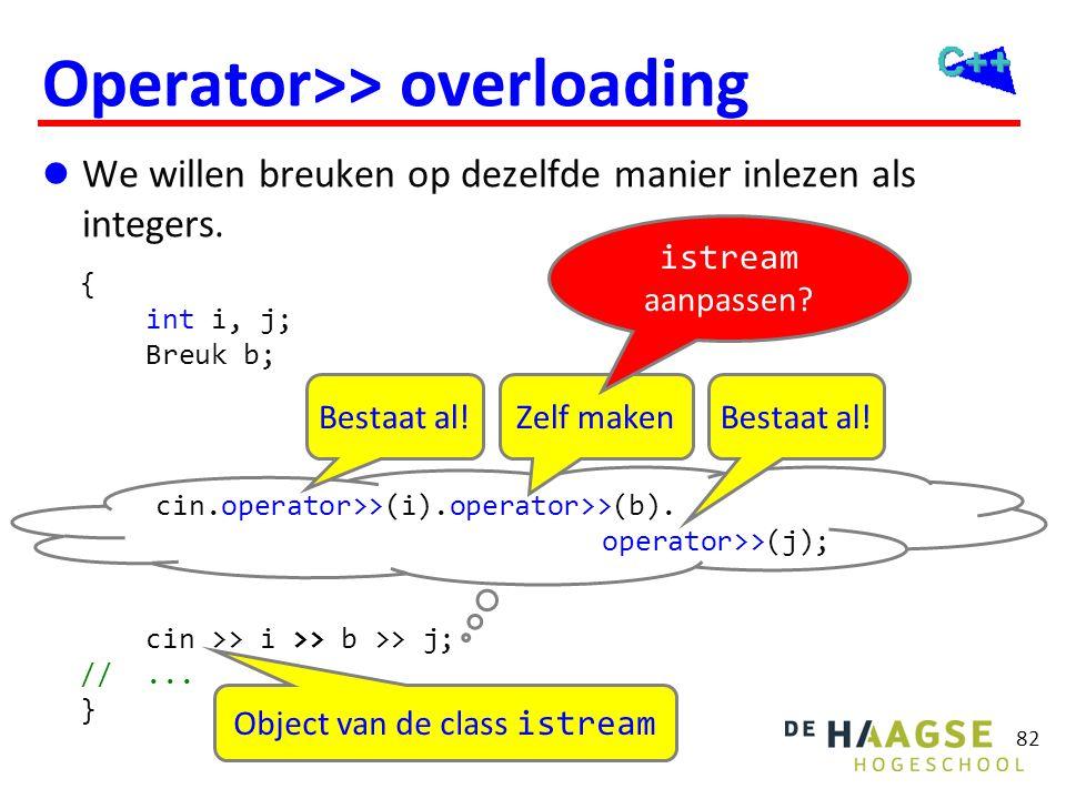 Operator>> overloading