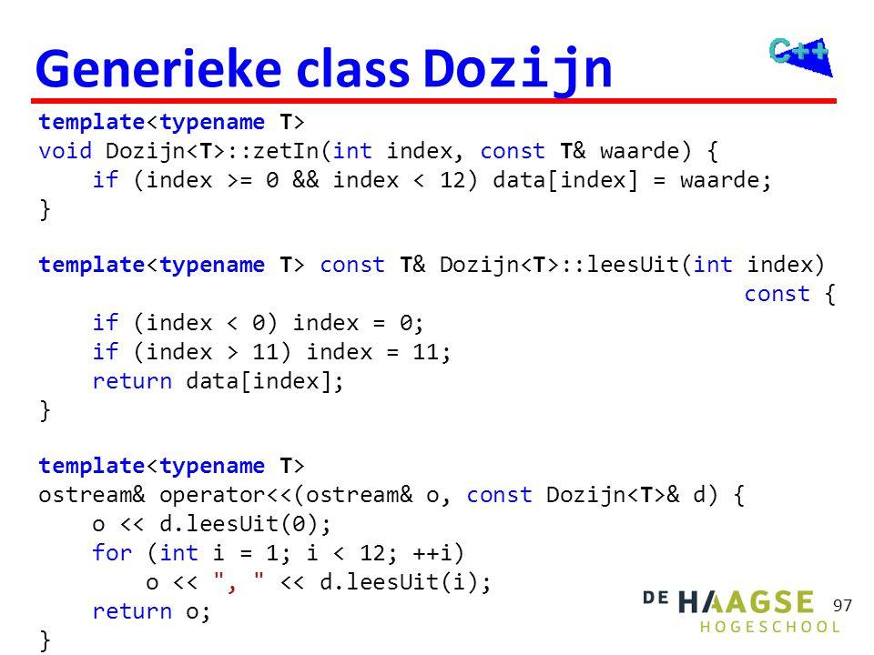 Generieke class Dozijn
