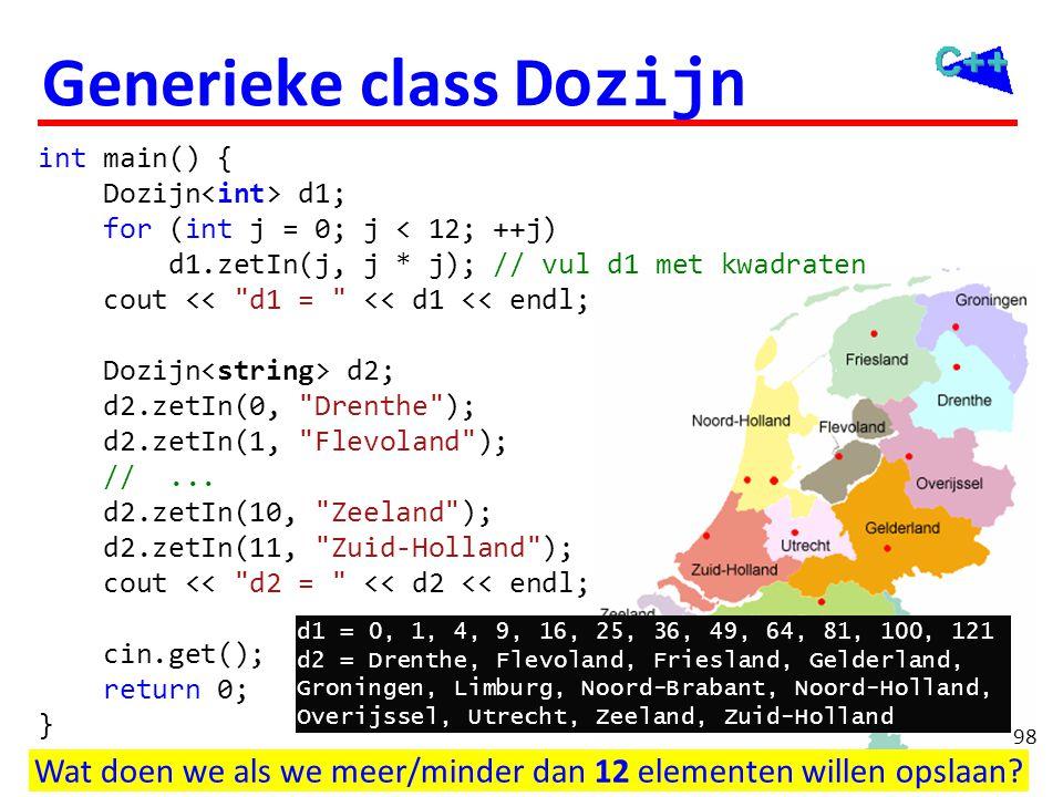 Generieke class Gebruik een tweede template parameter.