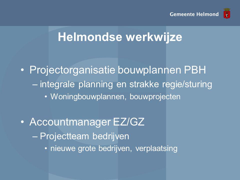 Helmondse werkwijze Projectorganisatie bouwplannen PBH