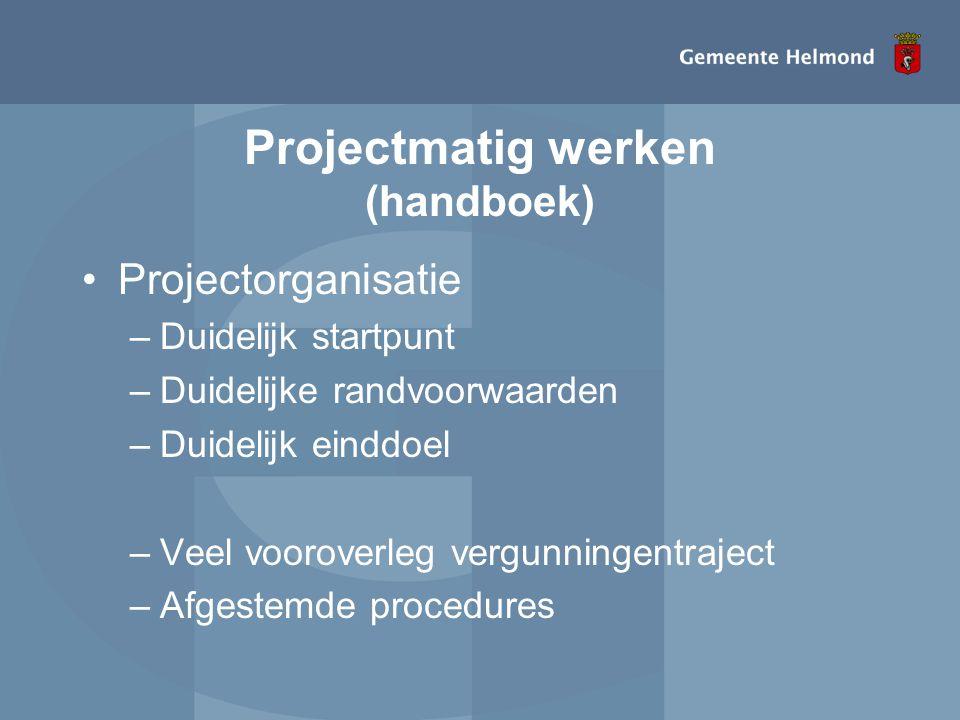 Projectmatig werken (handboek)