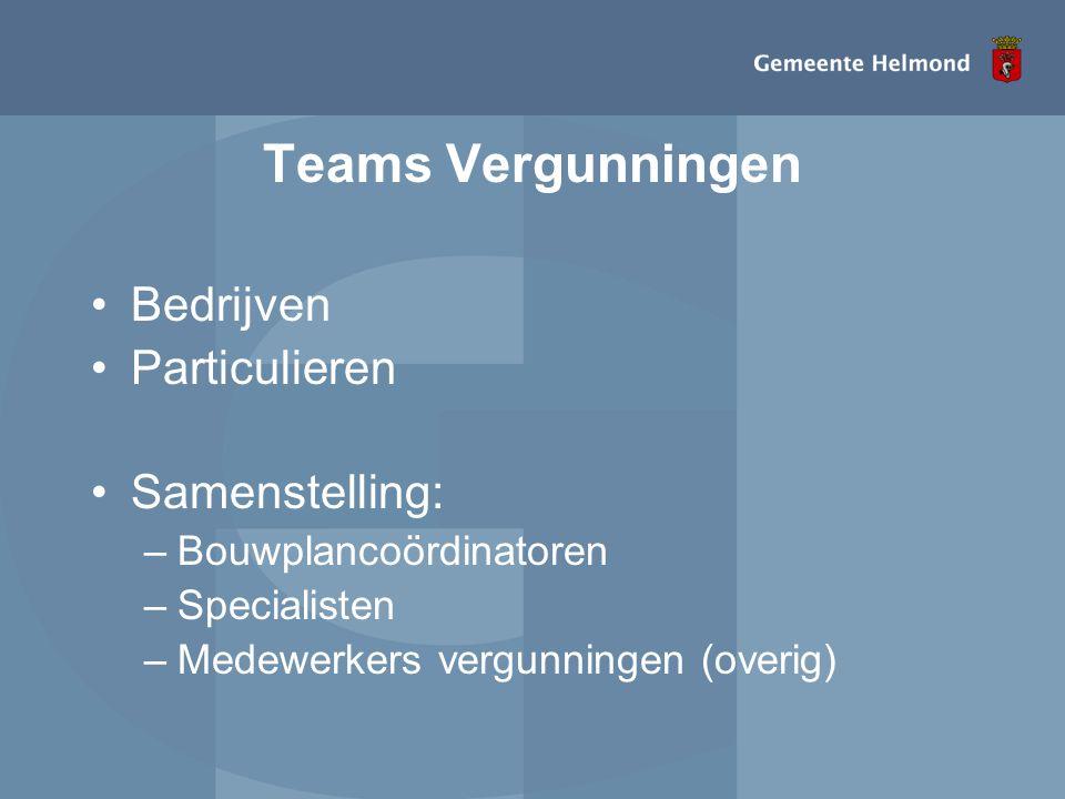 Teams Vergunningen Bedrijven Particulieren Samenstelling: