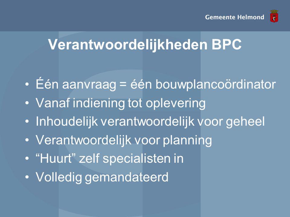 Verantwoordelijkheden BPC