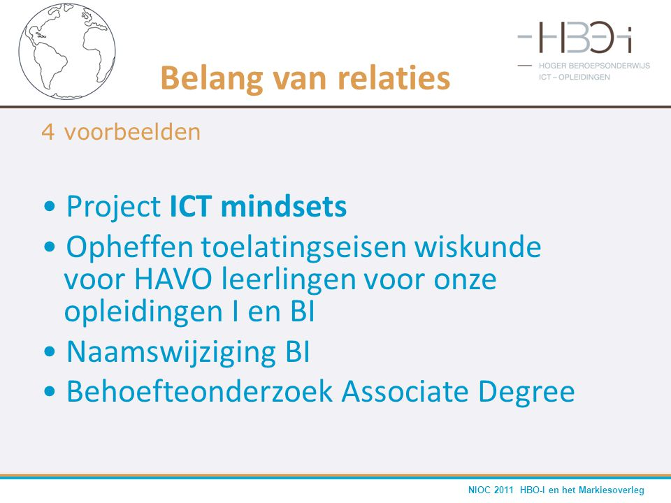 Belang van relaties Project ICT mindsets