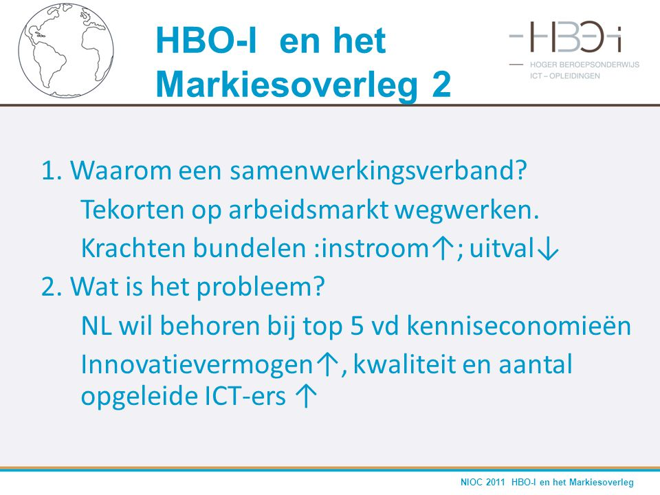 HBO-I en het Markiesoverleg 2