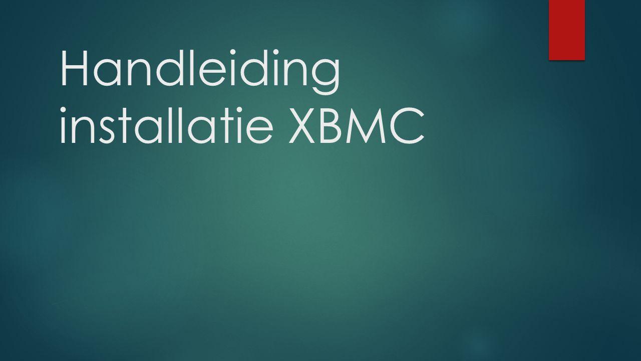 Handleiding installatie XBMC
