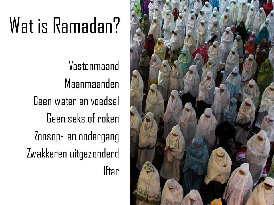 Wat is Ramadan.